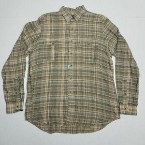 Polo Ralph Lauren XL plaid shirt - 100% Linen